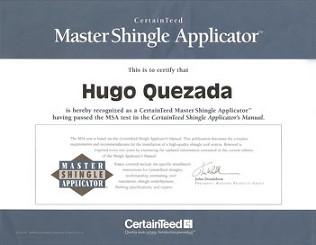 master roofer certificate